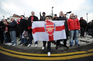 Arsenal fans are marching