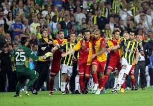 A Highlight From Galatasaray v Fenerbahce Match