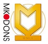 mk dons logo badge