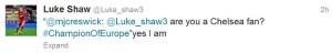luke shaw chelsea twitter